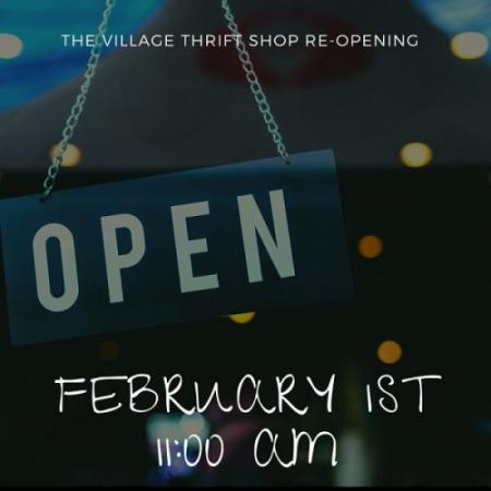 The Village Thrift Shop Re-Opens!